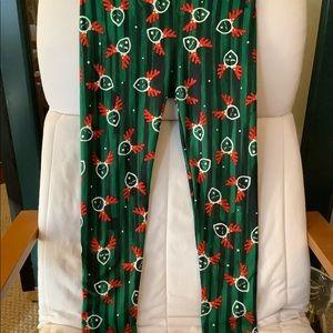 3/$20 LuLaRoe Reindeer Leggings!